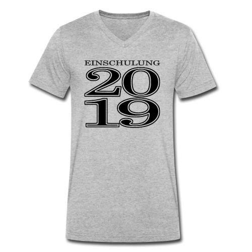 Einschulung 2019 - Männer Bio-T-Shirt mit V-Ausschnitt von Stanley & Stella