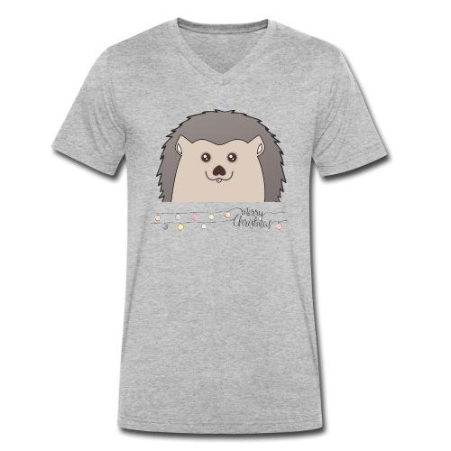 Hed wünscht Merry Christmas - Männer Bio-T-Shirt mit V-Ausschnitt von Stanley & Stella