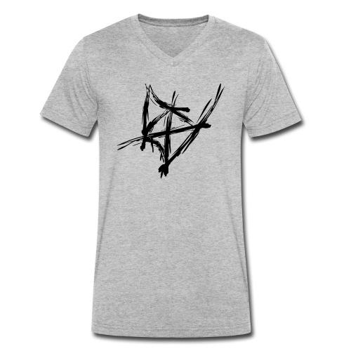 Styler Berg Logo GOLD - Männer Bio-T-Shirt mit V-Ausschnitt von Stanley & Stella