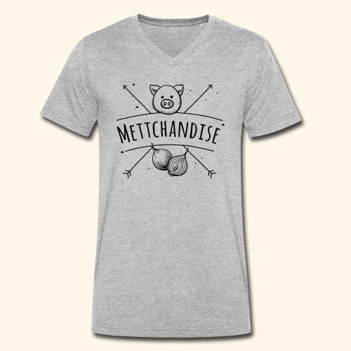 Mettchandise - Männer Bio-T-Shirt mit V-Ausschnitt von Stanley & Stella