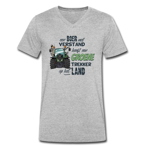 0195 Boer verstand F - Mannen bio T-shirt met V-hals van Stanley & Stella