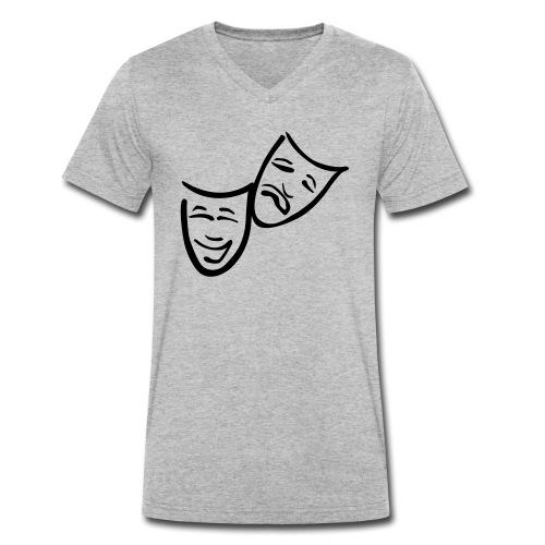 Theatermasken - Männer Bio-T-Shirt mit V-Ausschnitt von Stanley & Stella