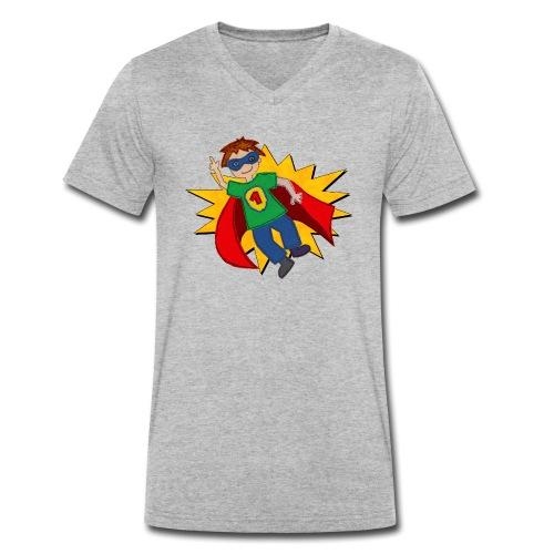 Superheld - Männer Bio-T-Shirt mit V-Ausschnitt von Stanley & Stella