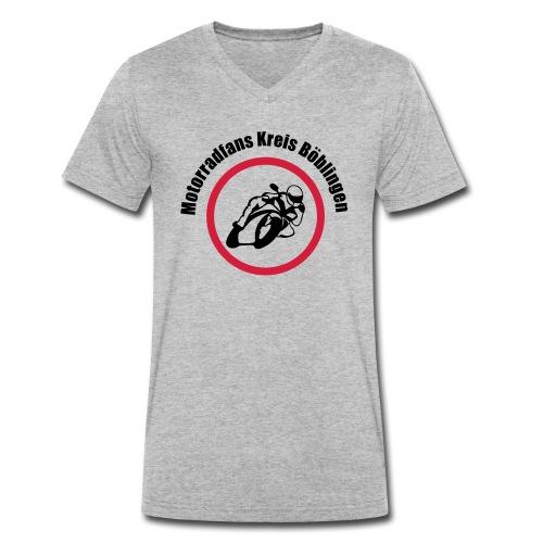 Motorradfans - Männer Bio-T-Shirt mit V-Ausschnitt von Stanley & Stella
