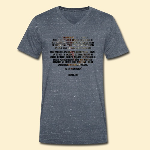Ziviler Unehorsam - Howard Zinn - Männer Bio-T-Shirt mit V-Ausschnitt von Stanley & Stella