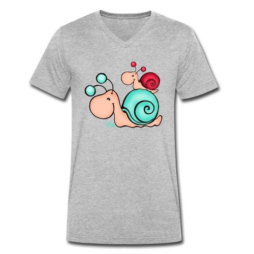 Mami Schneck - Männer Bio-T-Shirt mit V-Ausschnitt von Stanley & Stella