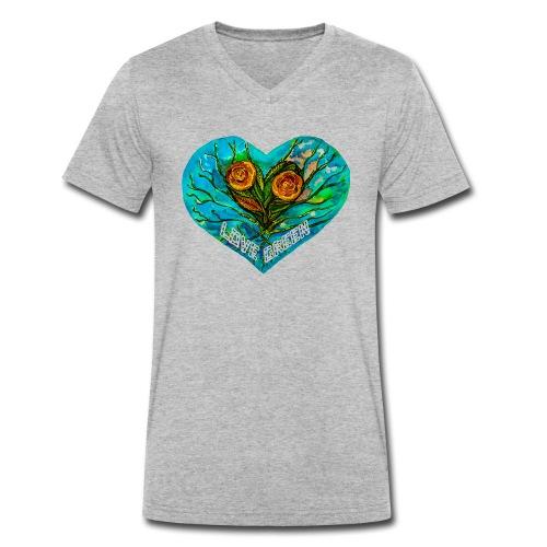 Lovegreen - Camiseta ecológica hombre con cuello de pico de Stanley & Stella