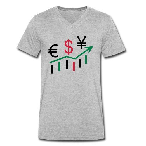 forex dollar euro - Männer Bio-T-Shirt mit V-Ausschnitt von Stanley & Stella
