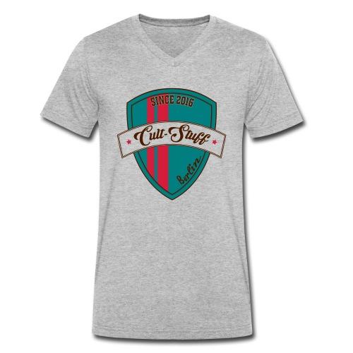 Cult Stuff - Logo grün rot - Männer Bio-T-Shirt mit V-Ausschnitt von Stanley & Stella