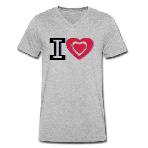 I LOVE I HEART - Men's Organic V-Neck T-Shirt by Stanley & Stella