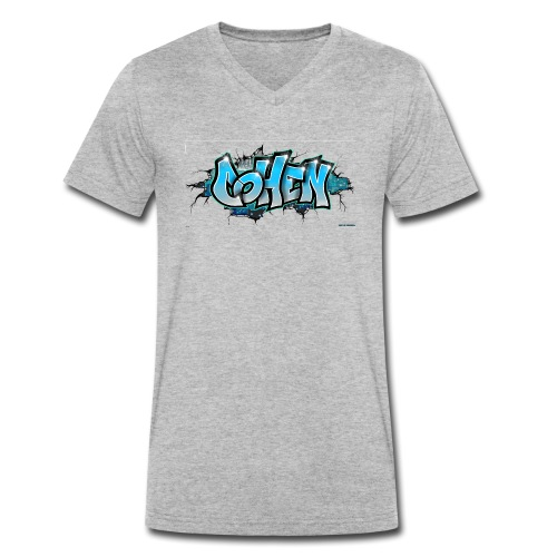 COHEN GRAFFITI TAG PRINTABLE BY MAX LE TAGUEUR - T-shirt bio col V Stanley & Stella Homme
