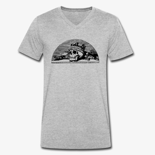 Cráneo Rey/ KING - Camiseta ecológica hombre con cuello de pico de Stanley & Stella