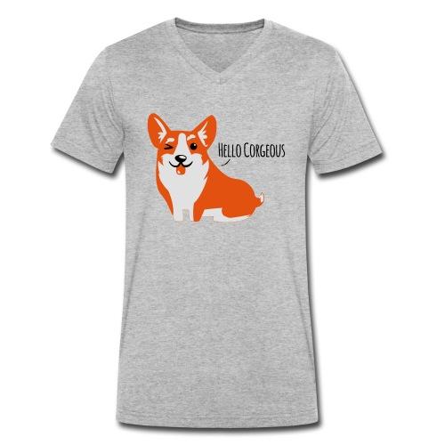 Corgi Love - Hell - Männer Bio-T-Shirt mit V-Ausschnitt von Stanley & Stella