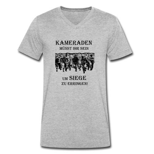 Kameraden Soldat Bundeswehr - Männer Bio-T-Shirt mit V-Ausschnitt von Stanley & Stella