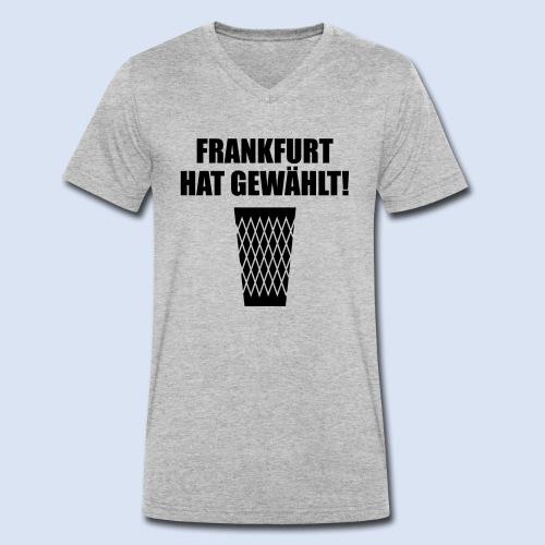Frankfurt Wahl - Männer Bio-T-Shirt mit V-Ausschnitt von Stanley & Stella