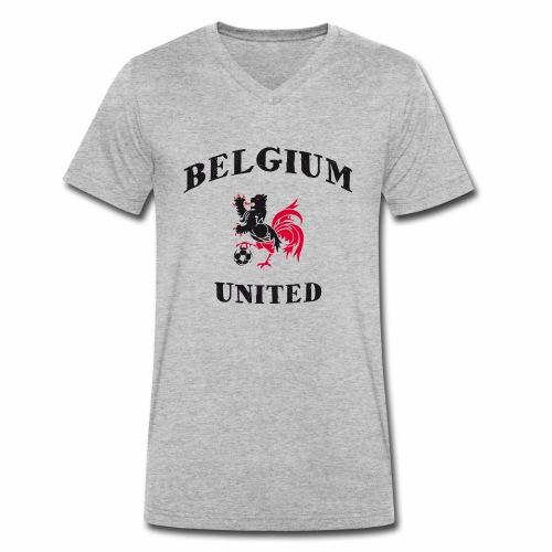 Belgium Unit - Men's Organic V-Neck T-Shirt by Stanley & Stella