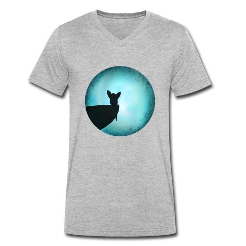 Tier im Mondlicht - Männer Bio-T-Shirt mit V-Ausschnitt von Stanley & Stella