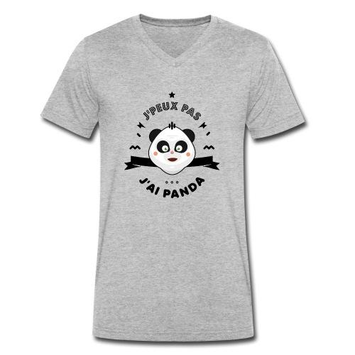 j'peux pas j'ai panda - T-shirt bio col V Stanley & Stella Homme