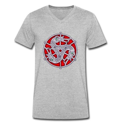Trisquel Vendel - Camiseta ecológica hombre con cuello de pico de Stanley & Stella