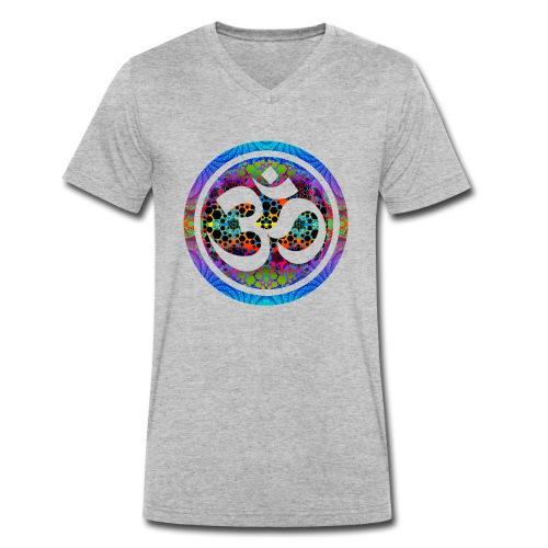 Aum Ohm Om - Männer Bio-T-Shirt mit V-Ausschnitt von Stanley & Stella