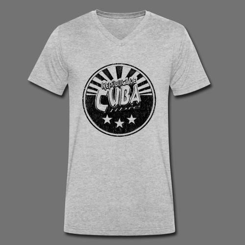 Cuba Libre (1c black) - Männer Bio-T-Shirt mit V-Ausschnitt von Stanley & Stella