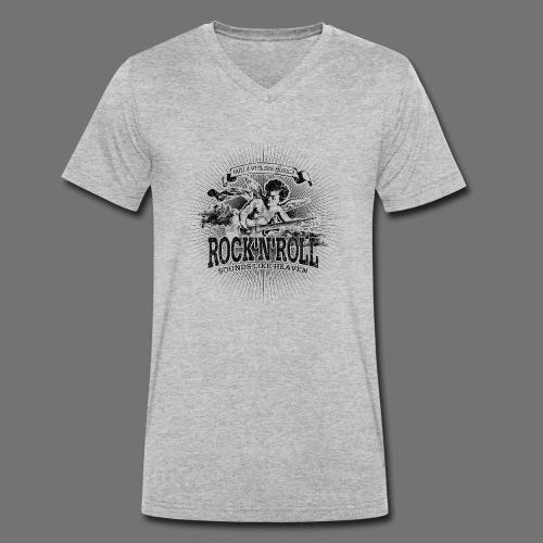 Rock 'n' Roll - Sounds Like Heaven (black) - Männer Bio-T-Shirt mit V-Ausschnitt von Stanley & Stella