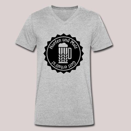 Hopfen und Malz - Gott erhalt's! - Bier - Alkohol - Männer Bio-T-Shirt mit V-Ausschnitt von Stanley & Stella