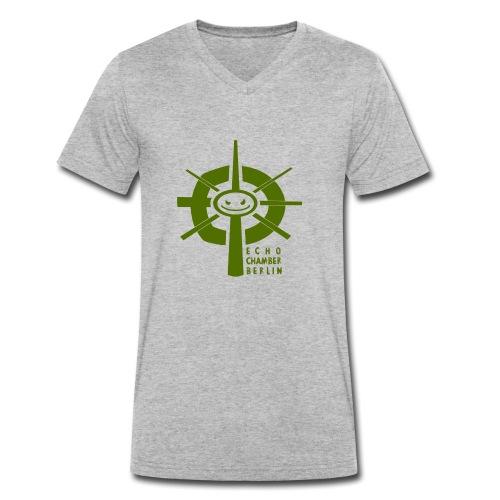 Echochamber Logo grün - Männer Bio-T-Shirt mit V-Ausschnitt von Stanley & Stella