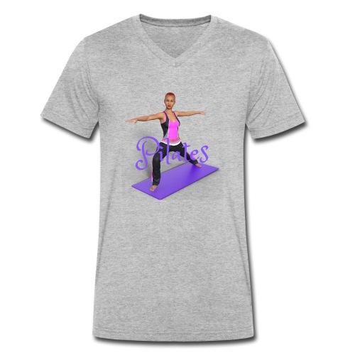 Pilates - Männer Bio-T-Shirt mit V-Ausschnitt von Stanley & Stella