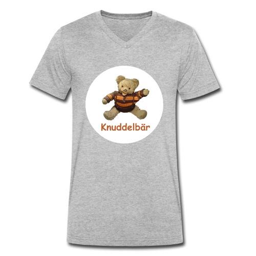 Teddybär Knuddelbär Schmusebär Teddy orange braun - Männer Bio-T-Shirt mit V-Ausschnitt von Stanley & Stella