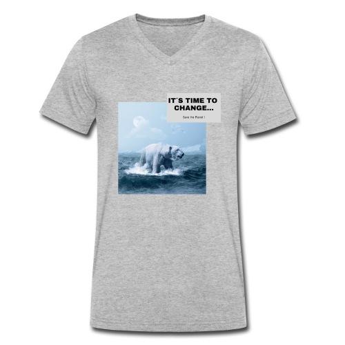 It s Time to Change - Männer Bio-T-Shirt mit V-Ausschnitt von Stanley & Stella