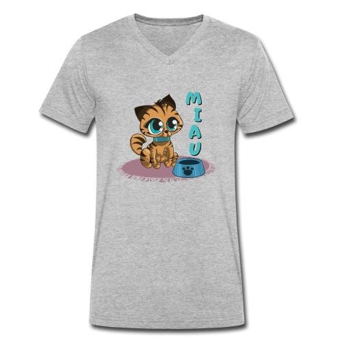 Miau - Männer Bio-T-Shirt mit V-Ausschnitt von Stanley & Stella