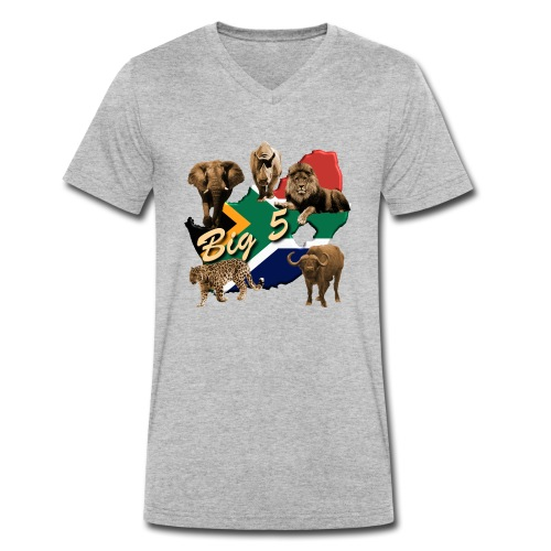 Big 5 - Südafrika Safari - Männer Bio-T-Shirt mit V-Ausschnitt von Stanley & Stella