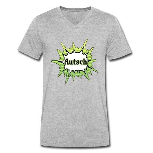 Comic Schrift Autsch - Männer Bio-T-Shirt mit V-Ausschnitt von Stanley & Stella