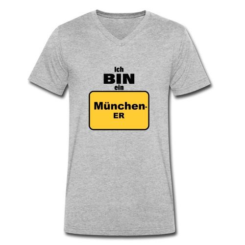 München/Ich bin ein Münchener - Männer Bio-T-Shirt mit V-Ausschnitt von Stanley & Stella