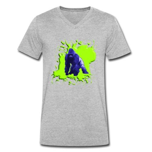 Blue Green Gorilla - Männer Bio-T-Shirt mit V-Ausschnitt von Stanley & Stella
