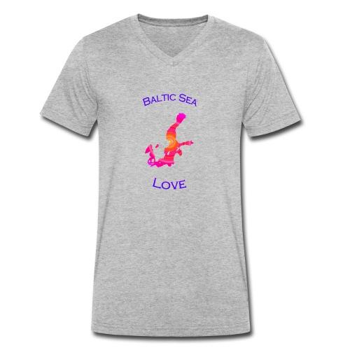 BalticSea Love pink c - Männer Bio-T-Shirt mit V-Ausschnitt von Stanley & Stella