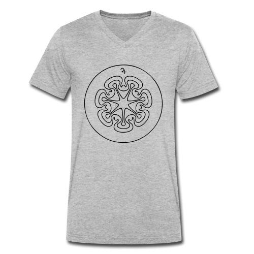 Rudis Jupiter Siegel - Männer Bio-T-Shirt mit V-Ausschnitt von Stanley & Stella