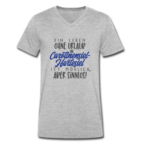 Ein Leben ohne Urlaub (blau) - Männer Bio-T-Shirt mit V-Ausschnitt von Stanley & Stella