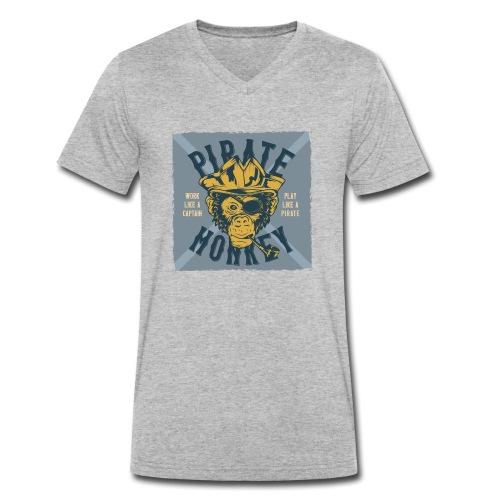 Pirate Monkey - Männer Bio-T-Shirt mit V-Ausschnitt von Stanley & Stella
