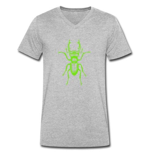 Grüner Hirschkäfer - Männer Bio-T-Shirt mit V-Ausschnitt von Stanley & Stella