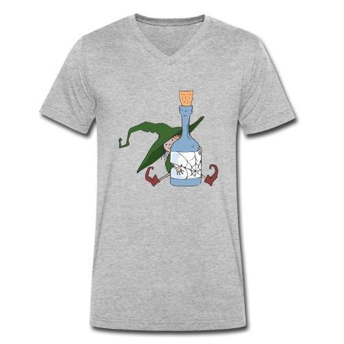 Green Witch with Bottle - Männer Bio-T-Shirt mit V-Ausschnitt von Stanley & Stella