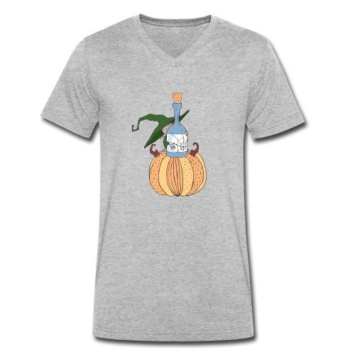 Green Witch at Pumpkin - Männer Bio-T-Shirt mit V-Ausschnitt von Stanley & Stella