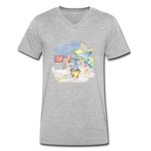 cute rabbit fall - Männer Bio-T-Shirt mit V-Ausschnitt von Stanley & Stella