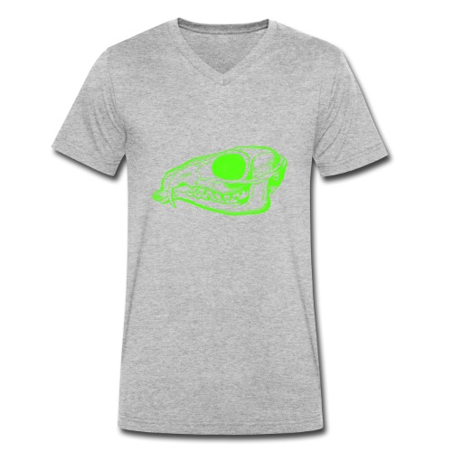 Grüner Säbezahnhirsch Schädel - Männer Bio-T-Shirt mit V-Ausschnitt von Stanley & Stella