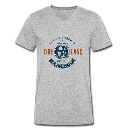 Tire Land - Männer Bio-T-Shirt mit V-Ausschnitt von Stanley & Stella