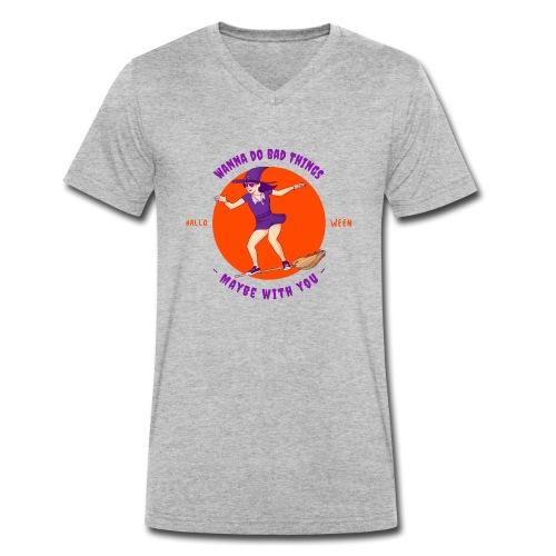 Halloween Witch - Männer Bio-T-Shirt mit V-Ausschnitt von Stanley & Stella