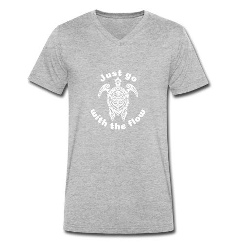 Hawaii Schildkröten-Tribal - Just go with the flow - Männer Bio-T-Shirt mit V-Ausschnitt von Stanley & Stella