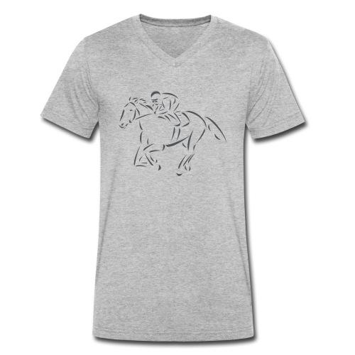 Rennpferd - Männer Bio-T-Shirt mit V-Ausschnitt von Stanley & Stella
