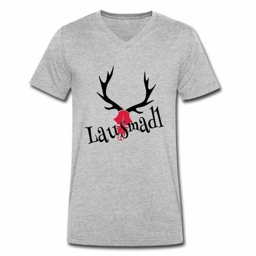 lausmadl hirsch - Männer Bio-T-Shirt mit V-Ausschnitt von Stanley & Stella